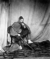 0029553 © Granger - Historical Picture ArchiveROGER FENTON (1819-1869).   English photographer. In Turkish costume, during the Crimean War. Photograph, c1855.