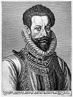0057072 © Granger - Historical Picture ArchiveALESSANDRO FARNESE   (1545-1592). Duke of Parma; Italian general and diplomat. Copper engraving, 18th century.