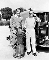 0069577 © Granger - Historical Picture ArchiveDOUGLAS FAIRBANKS   (1883-1939). American cinemactor. With his son, Douglas Fairbanks Jr. (1909-2000) in the 1930s.
