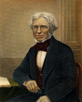 0009781 © Granger - Historical Picture ArchiveMICHAEL FARADAY   (1791-1867). English chemist and physicist. English colored engraving, 19th century.