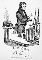 0042995 © Granger - Historical Picture ArchiveMICHAEL FARADAY   (1791-1867). English chemist and physicist. Drawing, c1835, by Daniel Maclise.