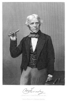 0066253 © Granger - Historical Picture ArchiveMICHAEL FARADAY (1791-1867).   English chemist and physicist: steel engraving, 19th century, after a photograph.