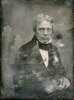 0163763 © Granger - Historical Picture ArchiveMICHAEL FARADAY (1791-1867).   English chemist and physicist. Daguerreotype by Mathew Brady, c1850.