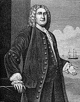 0070163 © Granger - Historical Picture ArchivePETER FANEUIL (1700-1743).   American merchant. Wood engraving, 19th century.