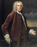 0074171 © Granger - Historical Picture ArchivePETER FANEUIL (1700-1743).   American merchant.Oil on canvas by John Smibert, 1739.