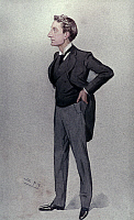 0049603 © Granger - Historical Picture ArchiveJ. FORBES-ROBINSON.   (1853-1937). English actor. Watercolor, 1895, by 'Spy' (Sir Leslie Ward).