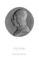 0051938 © Granger - Historical Picture ArchiveMARSILIO FICINO (1433-1499).   Italian philosopher. Line engraving after a medallion, 19th century.