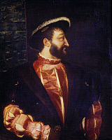 0034865 © Granger - Historical Picture ArchiveFRANCIS I (1494-1547).   King of France, 1515-1547. Oil on canvas, 1538, by Titian.