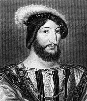 0068914 © Granger - Historical Picture ArchiveFRANCIS I (1494-1547).   King of France, 1515-1547. Copper engraving, 18th century, after a painting by Jean Clouet.