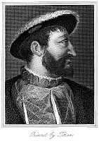 0266833 © Granger - Historical Picture ArchiveFRANCIS I (1494-1547).   King of France, 1515-1547. Steel engraving, 1823, by John T. Wedgwood after a painting by Titian.