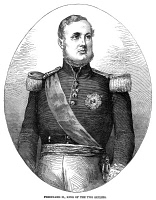 0067011 © Granger - Historical Picture ArchiveFERDINAND II (1810-1859).   King of Two Sicilies. English wood engraving, 1856.