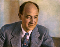 0046537 © Granger - Historical Picture ArchiveENRICO FERMI (1901-1954).   American physicist: oil over a photograph, n .d.