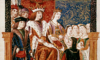 0022685 © Granger - Historical Picture ArchiveFERDINAND V and ISABELLA I   of Spain. Spanish ms. illumination, 1492.