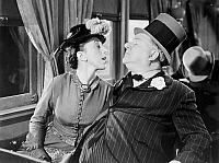 0046871 © Granger - Historical Picture ArchiveW.C. FIELDS (1879-1946).   American comedian. Margaret Hamilton and W.C. Fields in 'My Little Chickadee,'  1940.