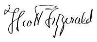 0064456 © Granger - Historical Picture ArchiveF. SCOTT FITZGERALD  (1896-1940). Francis Scott Key Fitzgerald. American writer. Autograph signature.