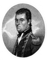 0028823 © Granger - Historical Picture ArchiveMATTHEW FLINDERS   (1774-1814). English mariner and hydrographer. Aquatint, English, 1814.