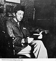 0030832 © Granger - Historical Picture ArchiveE.M. FORSTER (1879-1970).   Edward Morgan Forster. English novelist. Photographed in his rooms at King's College, Cambridge, England, c1901.