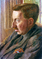 0045570 © Granger - Historical Picture ArchiveE. M. FORSTER (1879-1970).   English author. Oil on canvas, 1920, by Dora Carrington. EDITORIAL USE ONLY.