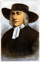 0078709 © Granger - Historical Picture ArchiveGEORGE FOX (1624-1691).   English religious leader. Colored engraving, 19th century.