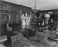 0001322 © Granger - Historical Picture ArchiveHENRY FORD MANSION.  The living room of Fair Lane, Henry Ford's estate in Dearborn, Michigan, 1919.