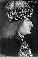 0059829 © Granger - Historical Picture ArchiveFREDERICK III (1415-1493).   Holy Roman Emperor, 1440-1493. Oil on panel, c1469, by an unknown artist.