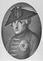 0004112 © Granger - Historical Picture ArchiveFREDERICK II (1712-1786).   Frederick the Great, King of Prussia, 1740-1786. Steel engraving, 19th century.