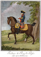 0061798 © Granger - Historical Picture ArchiveFREDERICK II OF PRUSSIA   (1712-1786). Line engraving, French, 18th century.