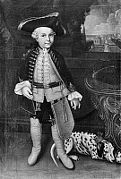 0175855 © Granger - Historical Picture ArchiveFREDERICK II (1712-1786).   Known as Frederick the Great. King of Prussia, 1740-1786. Portrait as a child, by Christian Seybold, c1720.