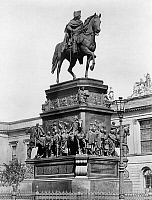 0266057 © Granger - Historical Picture ArchiveFREDERICK II (1712-1786).   Known as Frederick the Great. King of Prussia, 1740-1786. Bronze equestrian statue on Unter den Linden in Berlin, completed in 1851 by Christian Daniel Rauch. Photograph, c1870.