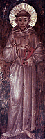 0021877 © Granger - Historical Picture ArchiveST. FRANCIS OF ASSISI   (1182-1226). Italian friar and preacher. Fresco by Cimabue.