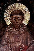 0021878 © Granger - Historical Picture ArchiveST. FRANCIS OF ASSISI   (1182-1226). Italian friar and preacher. Detail of a fresco by Cimabue.