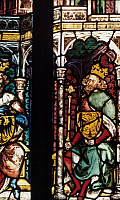 0022444 © Granger - Historical Picture ArchiveFREDERICK I (1123?-1190).   Known as Frederick Barbarossa. Holy Roman Emperor, 1152-1190. Portrait on a stained glass window, originally from St. Stephen's Cathedral, Vienna, Austria.