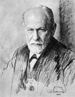 0006031 © Granger - Historical Picture ArchiveSIGMUND FREUD (1856-1939).   Austrian neurologist and founder of psychoanalysis. Charcoal drawing, 1926, by Ferdinand Schmutzer.
