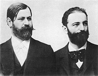 0015678 © Granger - Historical Picture ArchiveSIGMUND FREUD (1856-1939).   Austrian neurologist. Freud (left) with his friend and colleague Wilhelm Fliess, in the early 1890s.