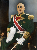 0052600 © Granger - Historical Picture ArchiveFRANCISCO FRANCO (1892-1975).   Spanish soldier and dictator. Oil over a photograph, c1944.