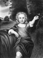0109096 © Granger - Historical Picture ArchiveFRANCIS FOLGER FRANKLIN   (1732-1736). Son of Benjamin and Deborah Franklin, who died at age four of smallpox. Line engraving.