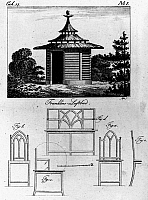 0109215 © Granger - Historical Picture ArchiveAIR BATH, 1768.   Fanciful German version of the fresh air bath, an innovation suggested and practiced by Benjamin Franklin. Line engraving, 18th century.