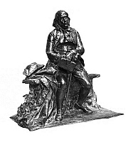 0175908 © Granger - Historical Picture ArchiveBENJAMIN FRANKLIN (1706-1790).   American printer, publisher, scientist, inventor, statesman and diplomat. Sculpture by Paul Wayland Bartlett, c1916.