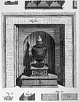 0175909 © Granger - Historical Picture ArchiveFRANKLIN: STOVE.   Diagram of a stove invented by Benjamin Franklin, c1741. Engraving, 1781.