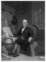 0622043 © Granger - Historical Picture ArchiveBENJAMIN FRANKLIN (1706-1790).   American printer, publisher, scientist, inventor, statesman, and diplomat. Mezzotint engraving by Henry S. Sadd, c1846 after a painting by Tompkins Harrison Matteson.