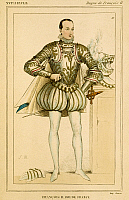 0061795 © Granger - Historical Picture ArchiveKING FRANCIS II OF FRANCE   (1544-1560). Colored etching, French, 19th century.
