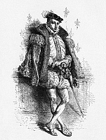 0268646 © Granger - Historical Picture ArchiveFRANCIS II (1544-1560).   King of France, 1559-60. Francis II at age sixteen. Line engraving from Francois Guizot's 'History of France,' mid 19th century.