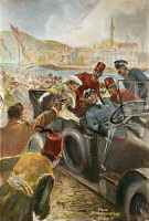 0061036 © Granger - Historical Picture ArchiveFRANZ FERDINAND.  The assassination of Archduke Franz Ferdinand and Archduchess Sophie of Austria at Sarajevo, Bosnia, on 28 June 1914: after a painting.