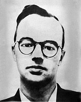 0042351 © Granger - Historical Picture ArchiveKLAUS FUCHS (1911-1988).   German-born physicist who worked on the development of the atomic bomb in England and the United States and passed information to the Soviet Union as a spy. Photograph from his ID badge at Los Alamos National Laboratory.