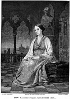 0013024 © Granger - Historical Picture ArchiveMARGARET FULLER (1810-1850).   American critic and reformer. Wood engraving, late 19th century, after a painting of 1848 by Thomas Hicks.
