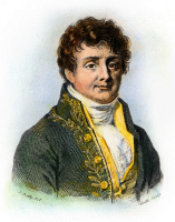 0042937 © Granger - Historical Picture ArchiveJOSEPH FOURIER (1768-1830).   Baron Jean Baptiste Joseph Fourier. French geometer and physicist. Line engraving, French, c1835.