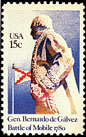 0022629 © Granger - Historical Picture ArchiveBERNARDO de GALVEZ   (1746-1786). Spanish colonial administrator. On a U.S. postage stamp, 1980, commemorating his victory over the British at Mobile in 1780.