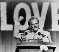 0168631 © Granger - Historical Picture ArchiveBILLY GRAHAM (1918- ).   William Franklin Graham. American evangelist. Graham speaking at the closing session of the Southern Baptist Convention in Montreat, North Carolina, 13 June 1974.