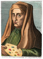 0052599 © Granger - Historical Picture ArchiveGIOTTO (1266?-1337).   Florentine painter, architect and sculptor. Copper engraving, French, late 17th century.