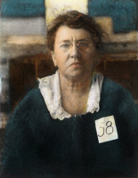0051806 © Granger - Historical Picture ArchiveEMMA GOLDMAN (1869-1940).   American anarchist: oil over a photograph taken at the time of her deportation from the United States in 1919.